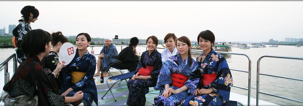 料理自慢の屋形船。揚げたての天ぷら