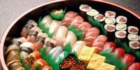 高級江戸前寿司の桶寿司写真