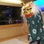 屋形船 なわ安 宴会風景(獅子舞)