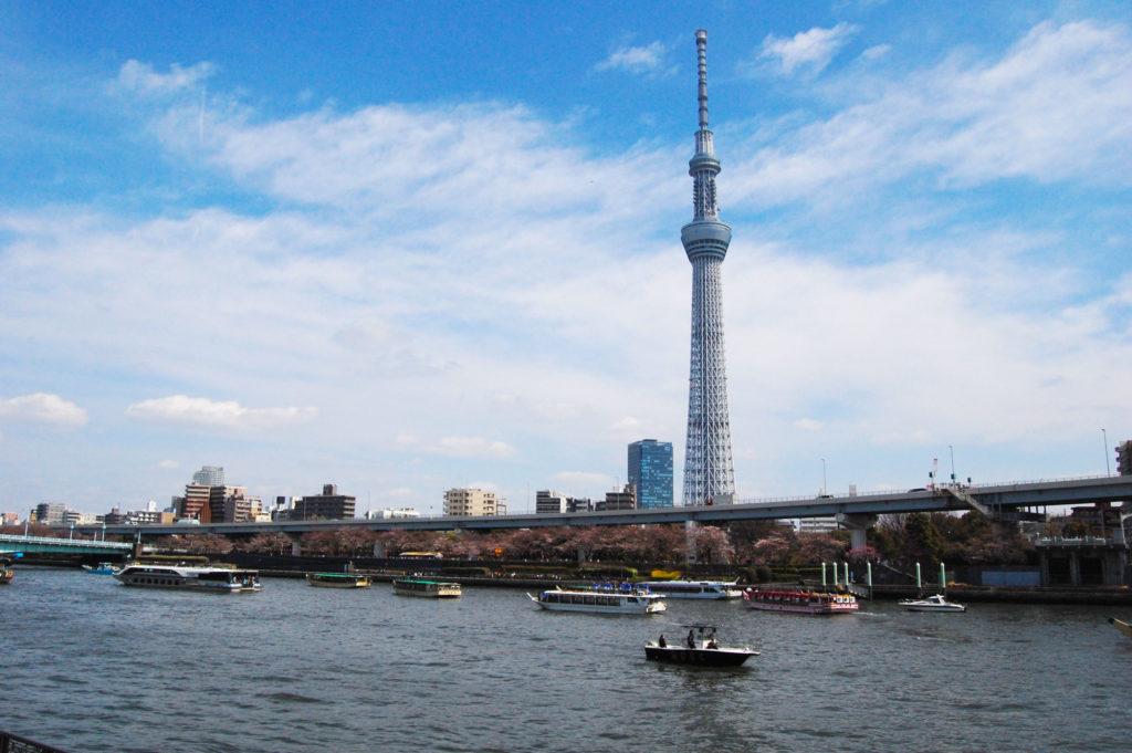 隅田川でお花見屋形船