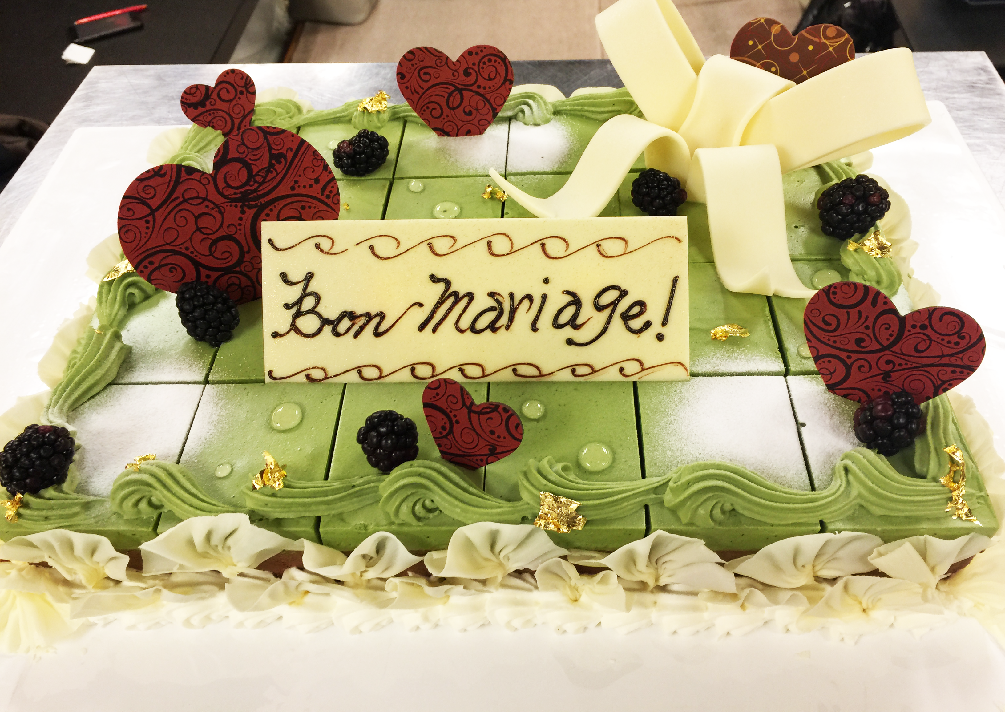 結婚披露パーティーケーキ