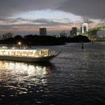 屋形船 飛鳥と夜景のレインボーブリッジ(なわ安)