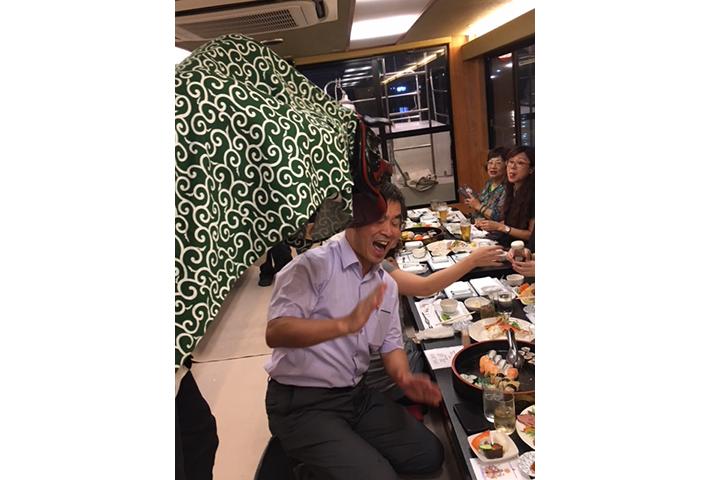 台湾からのお客様★屋形船 獅子舞パフォーマンス